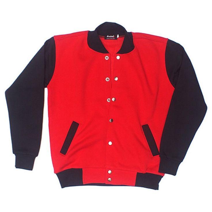 Varsity Jacket Red Black