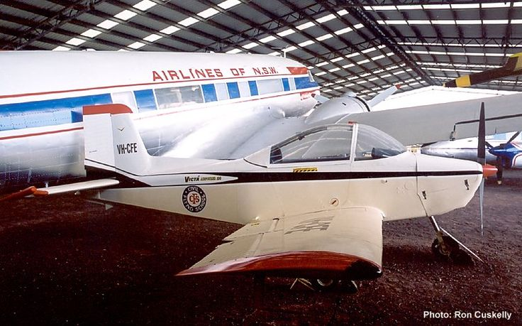 QAM AIRCRAFT COLLECTION, Victa Airtourer 100 VH-CFE c/n 18 restored in Civil Flying School markings, 17/7/04. Photograph Ron Cuskelly.