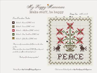 My Happy Memories: Peace Pincushion Freebie
