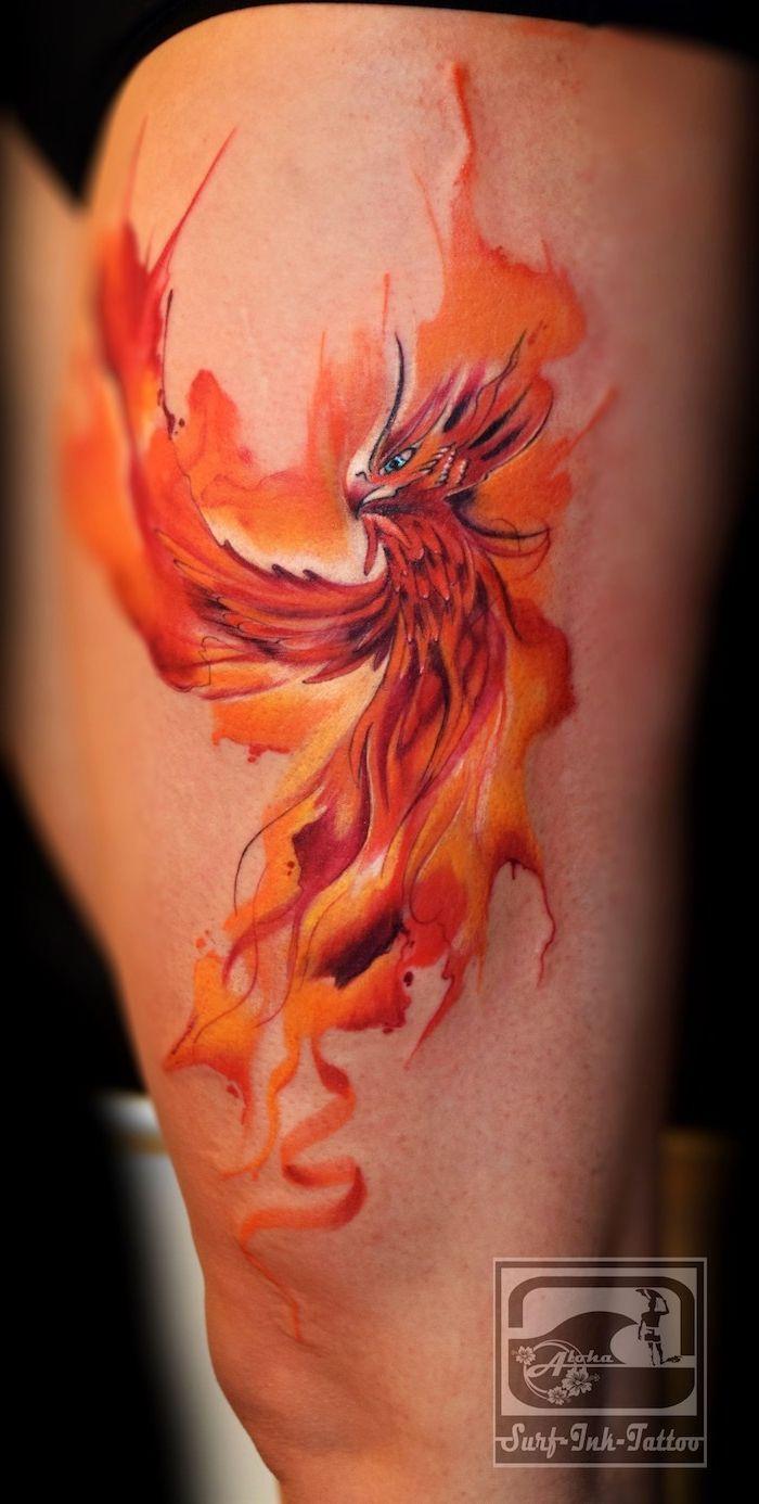 ▷ 1001 + Ideen und Bilder zum Aquarell Tattoo und seiner Bedeutung, #Aquarell #Bedeutung #Bi …