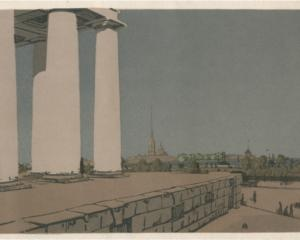 Colonnade of Exchange and Peter and Paul Fortress, 1907
