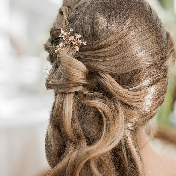 Bridal Hairstyle With Rose : 194 best rose gold weddings images on pinterest