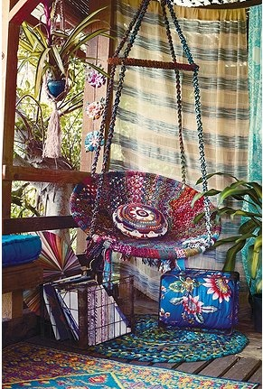 sweet: Patio Design, Boho Chic, Urban Outfitters, Swings Chairs, Reading Nooks, Hanging Chairs, House, Bohemian Style, Bohemian Decor