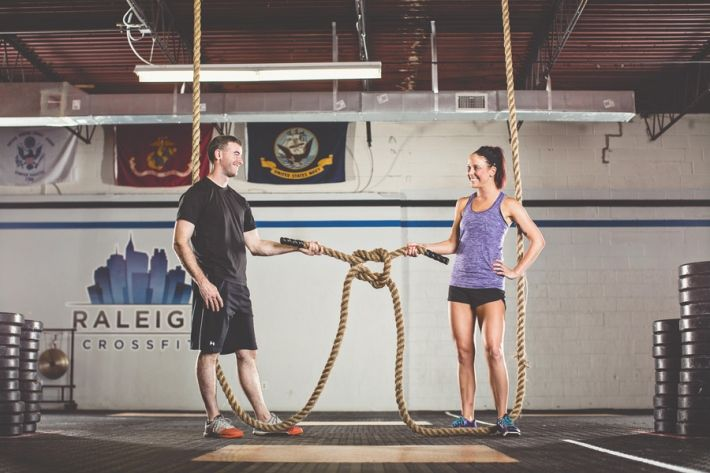 Raleigh Crossfit Fitness Workout Engagement Photos
