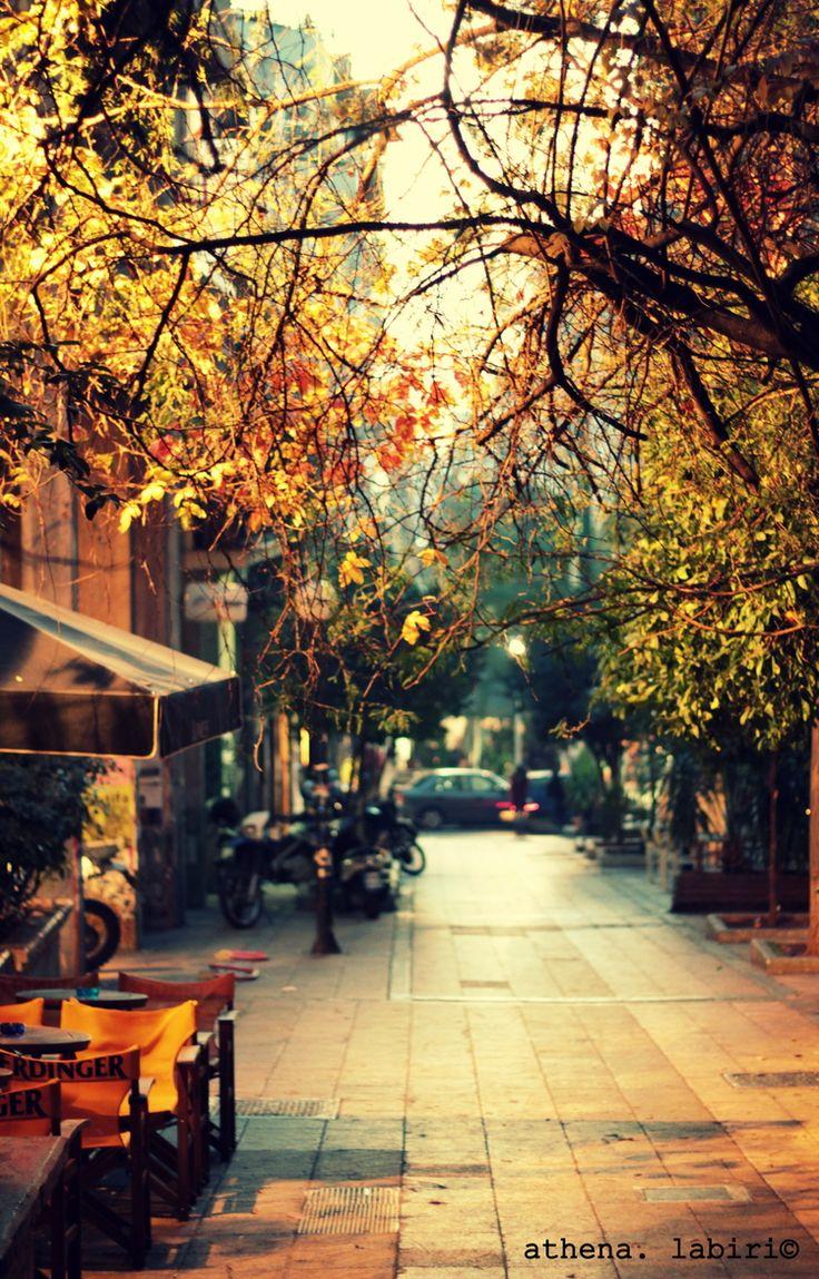 Exarcheia in Autumn, Athens