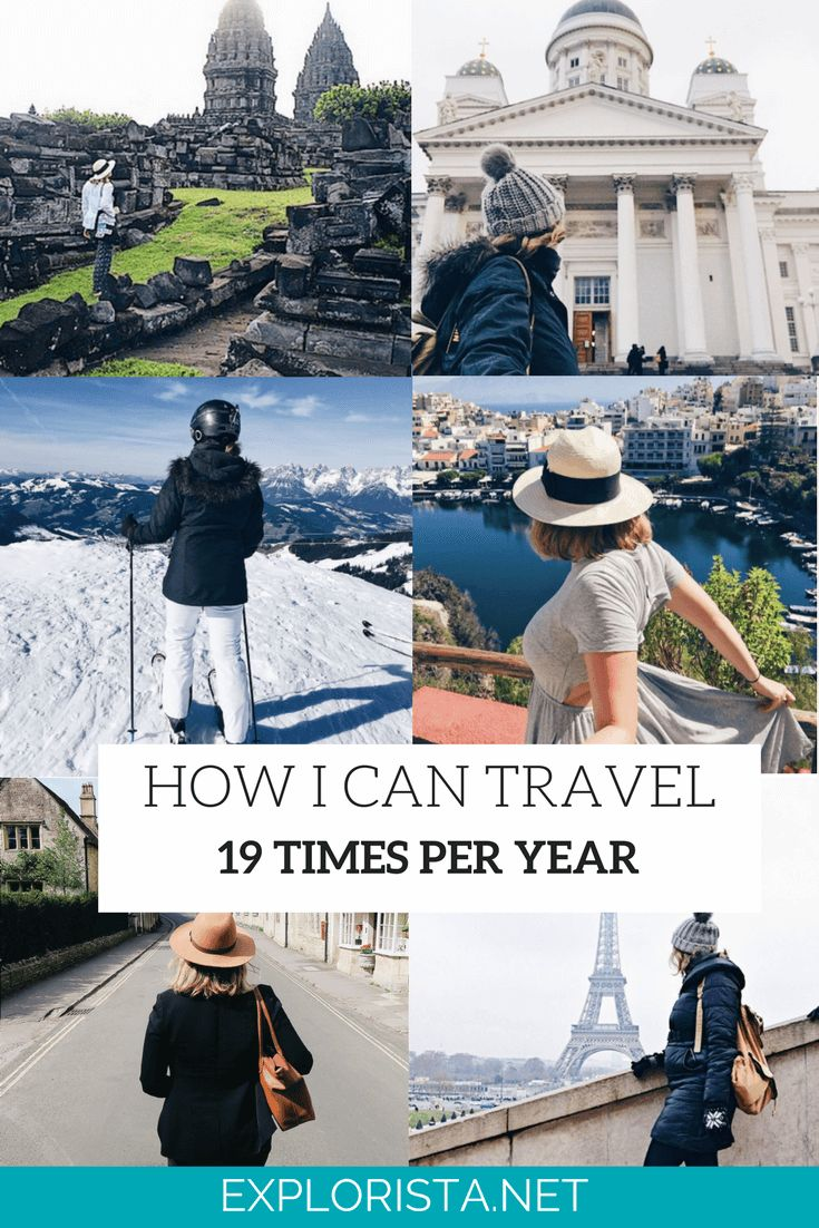 How I Manage To Travel 19+ Times Per Year - My Money, Work, & Choices. via Explorista