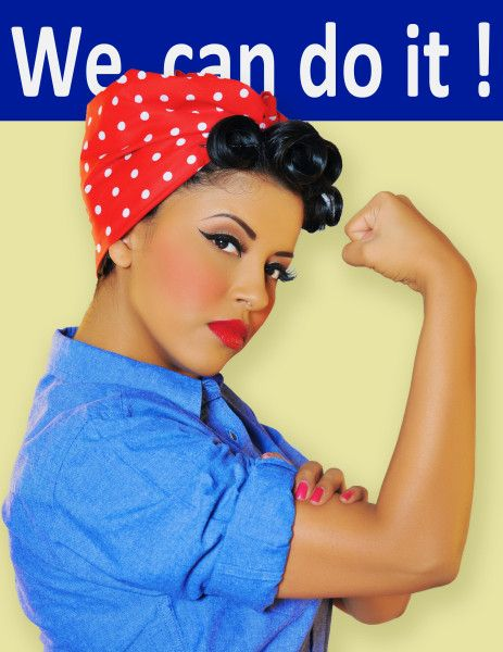Rosy the Riveter makeup look