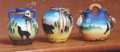 Mini Southwestern Vase Set Free Shipping
