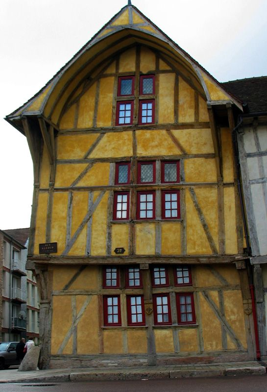 Medieval house in Troyes, France