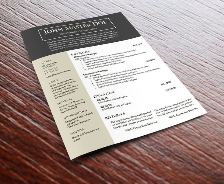 The  Best Free Cv Template Ideas On   Cv Design