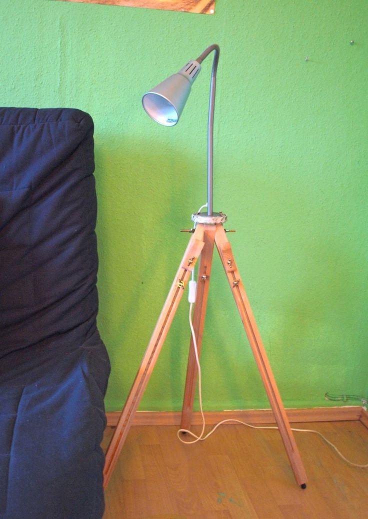 upcycling lampe aus einer staffelei selber bauen upcycling pinterest. Black Bedroom Furniture Sets. Home Design Ideas