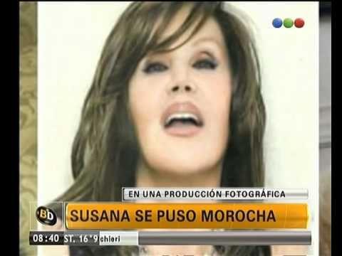 Susana es morocha - Telefe Noticias - ¿Te gusta como le queda?. Para una producción fotográfica, Susana se puso morocha. Conocé las imágenes del nuevo look de la diva.