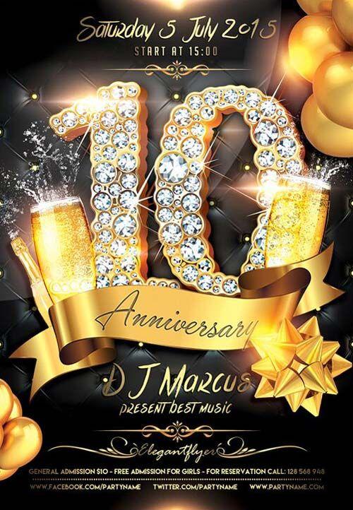 "Plantilla gratis PSD ""Anniversary Celebration"""