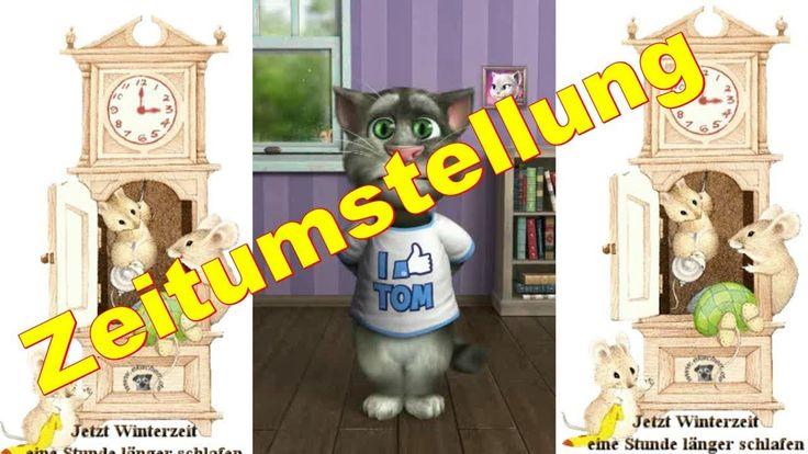 Zeitumstellung Sommerzeit - Winterzeit Uhren  Körperverletzung  Talking Tom sprechende Katze