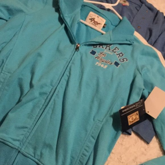 Brand New throw back LAKERS jacket Brand new w tags blue LAKERS jacket est 1948. Not sure about letting this go.. Jackets & Coats