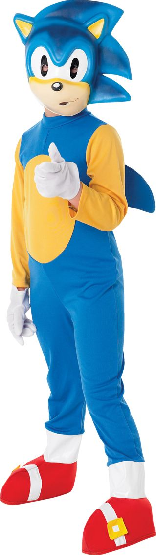 Child Licensed Sonic The Hedgehog Party Outfit New Fancy Dress Costume Kids Boys | eBay