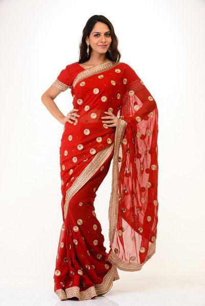 Delicate Red Wedding Sari | Saris and Things