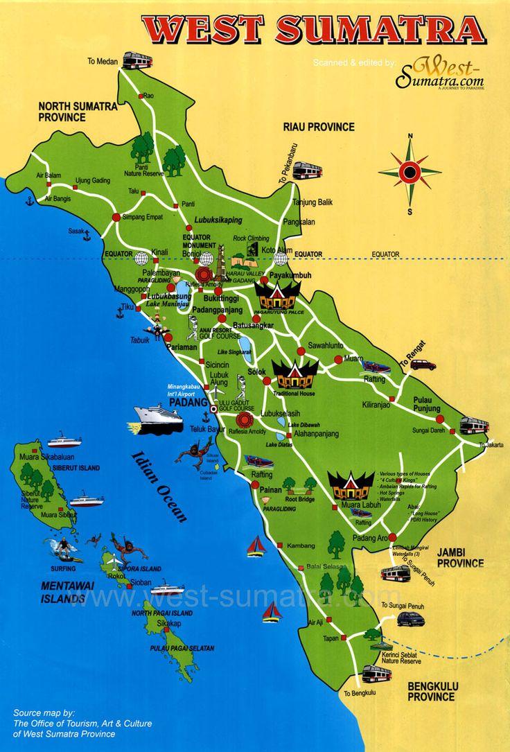 West Sumatera Map_Indonesia