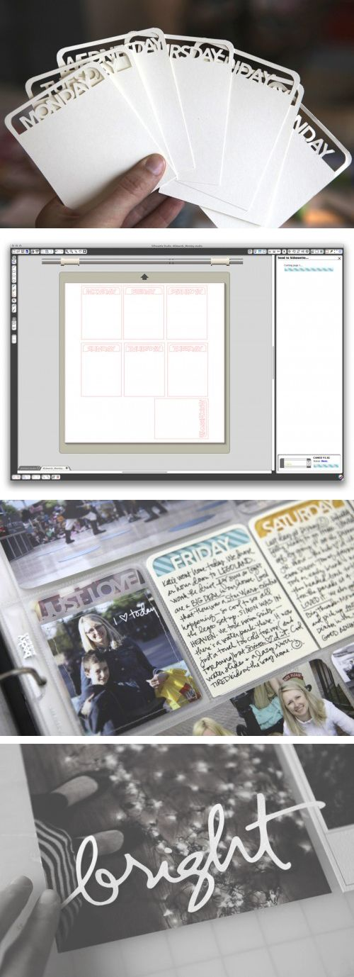 How to view and trace PNG files to turn them into cut files (Silhouette Studio video Tutorial) by Ali Edwards  ....  Bright script & video tutorial post: http://aliedwards.com/2011/12/december-daily-2011-day-three.html    Project Life day of the week post: http://aliedwards.com/2012/04/project-life-2012-week-thirteen-a-project-life-giveaway.html#more-20704    #Silhouette #Cameo: File Silhouette, Silhouette Studios, Journals Cards, Bright Scripts, Videos Tutorials, Tutorials Posts, Projects Life, Ali Edwards, Studios Videos