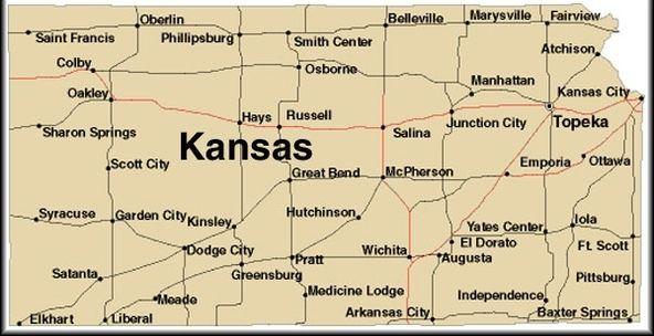 image regarding Printable Map of Kansas identified as Place Of Kansas Map country of kansas map kansas thinglink 592