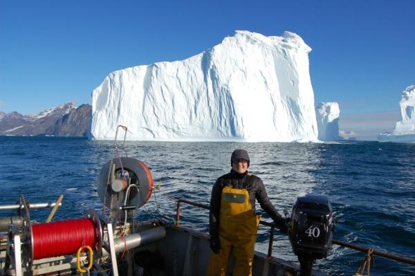 Dr Anna Hughes, glacial geomorphologist at Swansea University (pic via @LaurenceDyke)