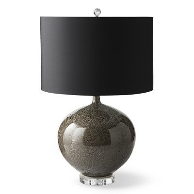 Abbott Ceramic Table Lamp With Black Shade, Cedar