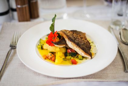 Saibling, Safran Gemüse, Restaurant Anfora, Kärnten, Restuaranttipp, Dinner, Restaurant Lavantal, Restaurant Kärnten