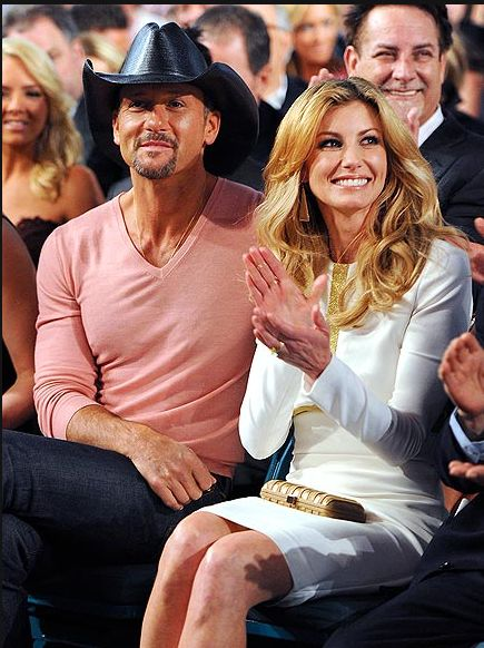 Country power couple Tim McGraw & Faith Hill at the 47th Annual Academy of Country Music Awards in Las Vegas.