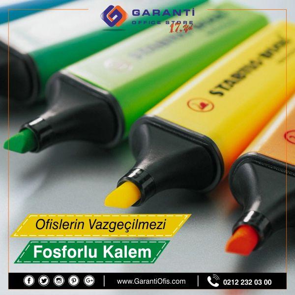 İşaretleme kalemlerinin başında gelen fosforlu kalem çeşitleri GarantiOfis.com'da!  #fosforlukalem #highlighterkalem #garantiofis #highlighter