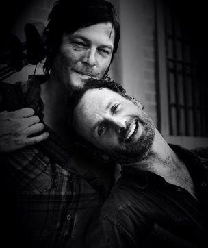 norman reedus and andrew lincoln <3