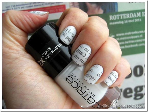 Metro Newspaper Nails!Current Nails, Awesome, Makeup, Beautiful, Newspaper Nails Art, Nails Polish, Metro Newspaper, Hair, My Own Nails Art
