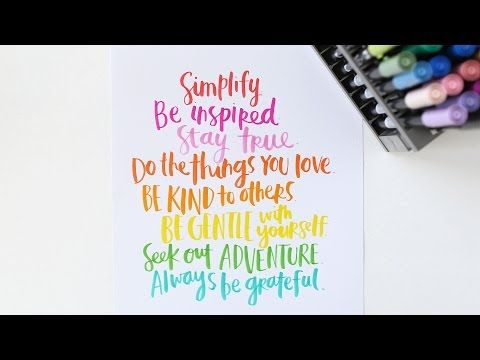 How To: Calligraphy • Easy and Inexpensive - YouTube
