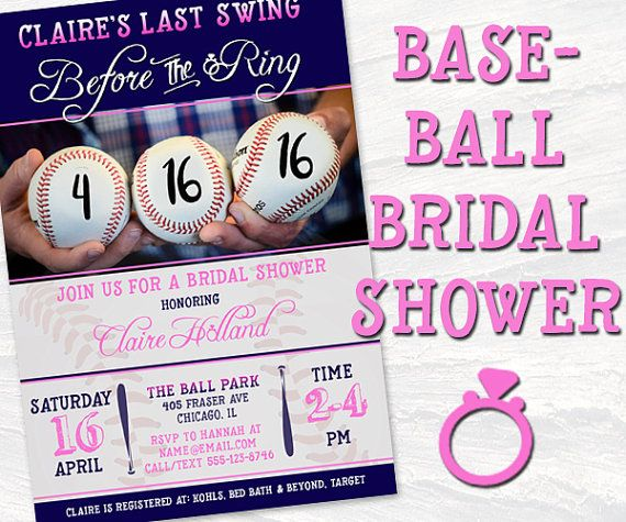 Baseball Theme Bridal Shower Pink And Blue By Maneeventpromotions