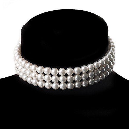 3 Tier Glass Pearl Collar Necklace In Silver Plating (Snow White) Avalaya http://www.amazon.com/dp/B002F8QG9O/ref=cm_sw_r_pi_dp_3vFUub0AKWNKV