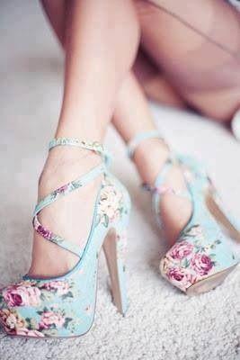 ❤ miu miu turquoise flower high heels looooove