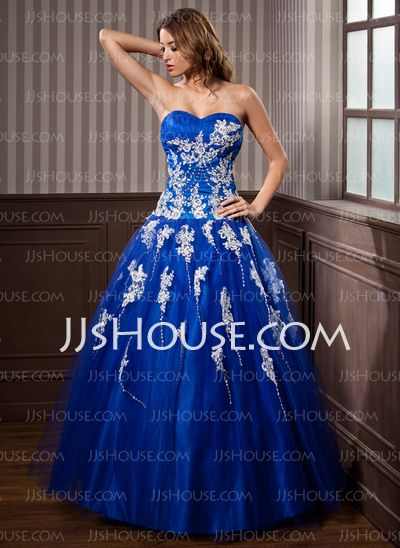 Quinceanera Dresses - $189.99 - Ball-Gown Sweetheart Floor-Length Tulle Quinceanera Dresses With Lace Beading (017020924) http://jjshouse.com/Ball-gown-Sweetheart-Floor-length-Tulle-Quinceanera-Dresses-With-Lace-Beading-017020924-g20924