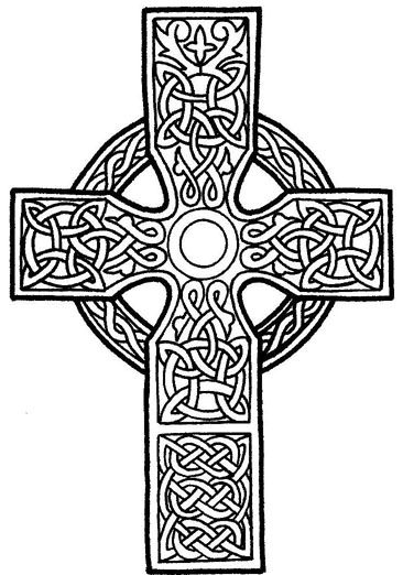 tattoo cross looks like stained glass | Celtic cross tattoo stencil 2