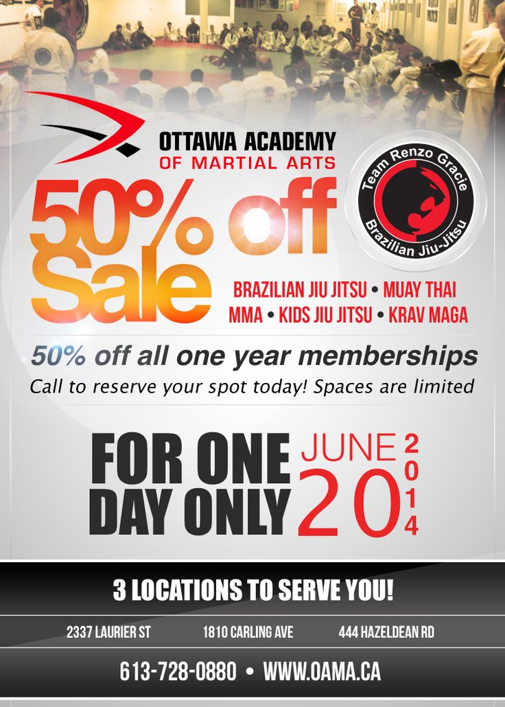 50% off this friday only! June 20/2014 please give us a call to reserve your spot 613-728-0880!