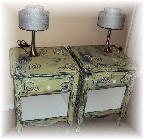 Matching French Provincial nightstands. https://www.facebook.com/pages/The-Dwelling-Place/208843295993325