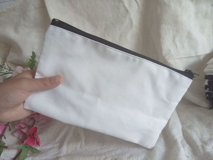 20 x DIY Blank White Makeup Bags Custom Craft Wallets Phone Pouches Pencil Cases #Unbranded #Wedding