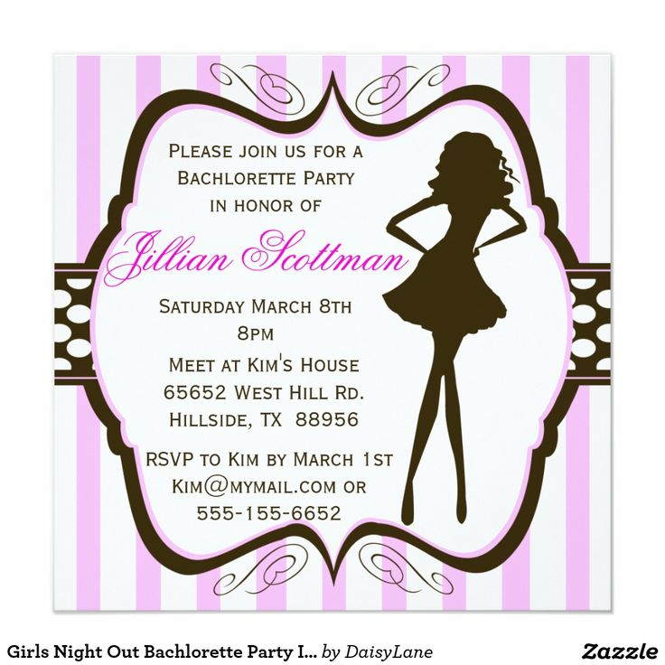 girls night out bachlorette party invitation - Cheap Bachelorette Party Invitations