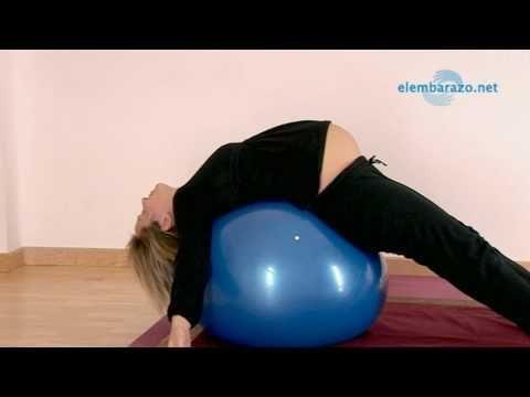 Ejercicios con pelota de pilates para embarazadas - YouTube #pilatesparaembarazadas