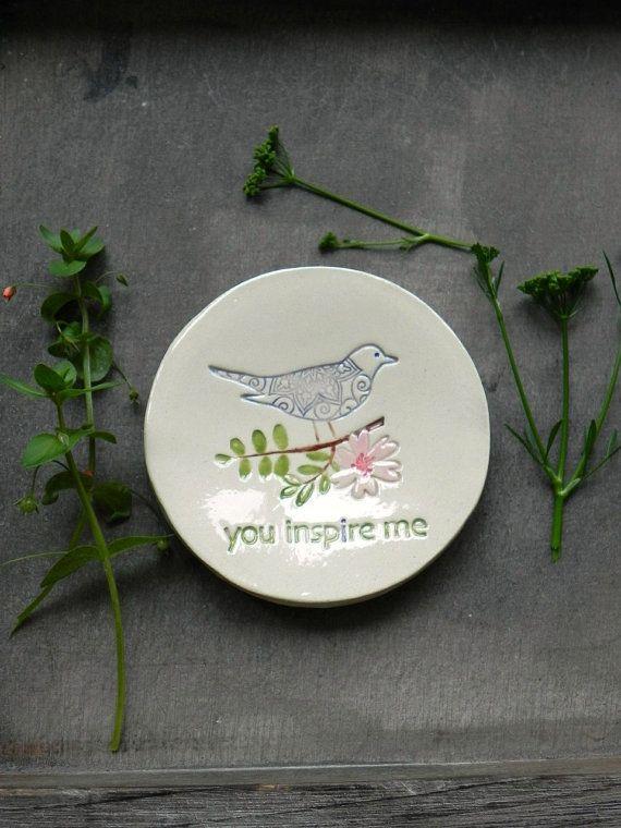 Inspiration Ring Dish Flower and Leaf Ceramic Dish Storage Bird Lace Round Flower Plate Jewelry Holder