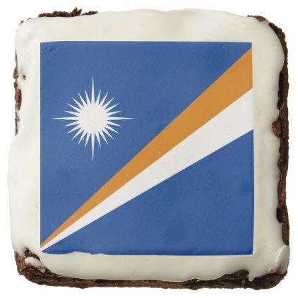 #Marshall Islands Flag Chocolate Brownie - #Chocolates #Treats #chocolate