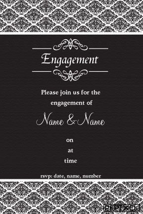 14 best Engagement Invitations images on Pinterest Engagement - engagement party invites templates