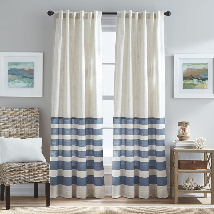 Verano Back Tab Window Curtain Panel In Blue Curtains Living