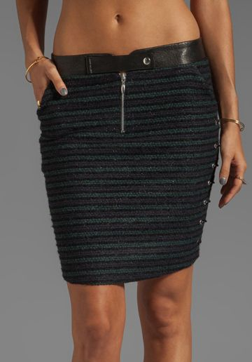 ROSEANNA Marlon College Skirt with Lacing in Marine - Skirts