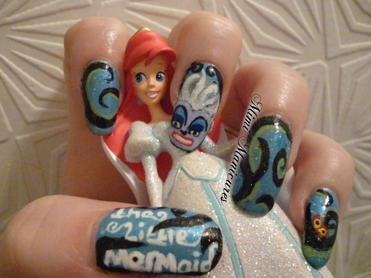 here are my evil Disney little mermaid Ursula nails http://mimimanicures.blogspot.co.uk/2013/04/little-mermaid-nails-evil-ursula.html