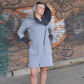 Płaszczyk z kapturem / Women's coat with a hood [AniS] -> Zitolo.com