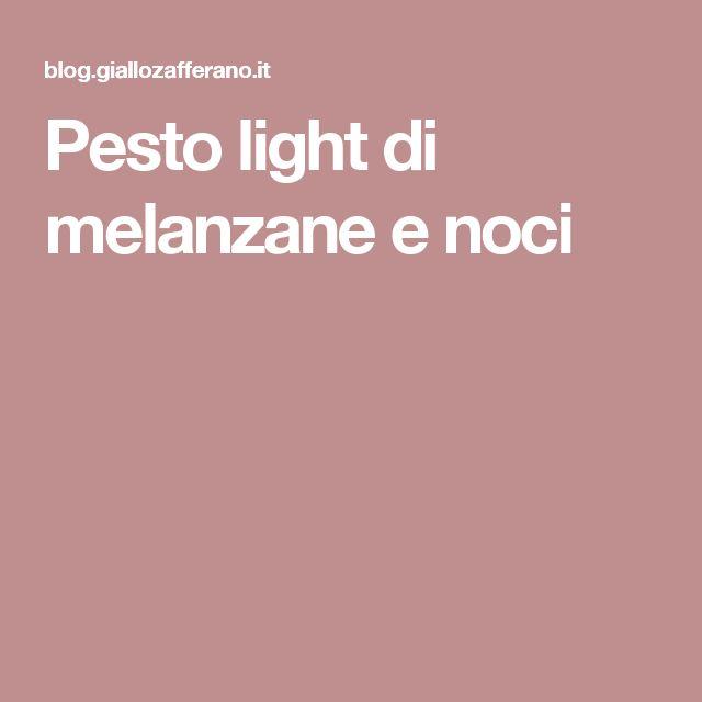 Pesto light di melanzane e noci